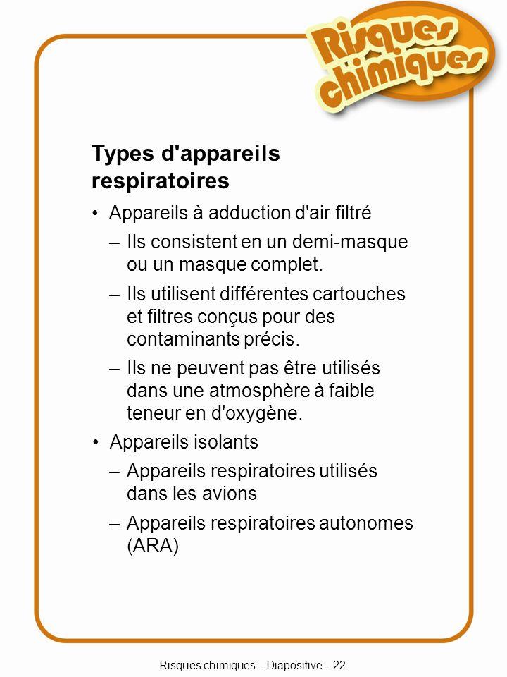 Risques chimiques – Diapositive – 22