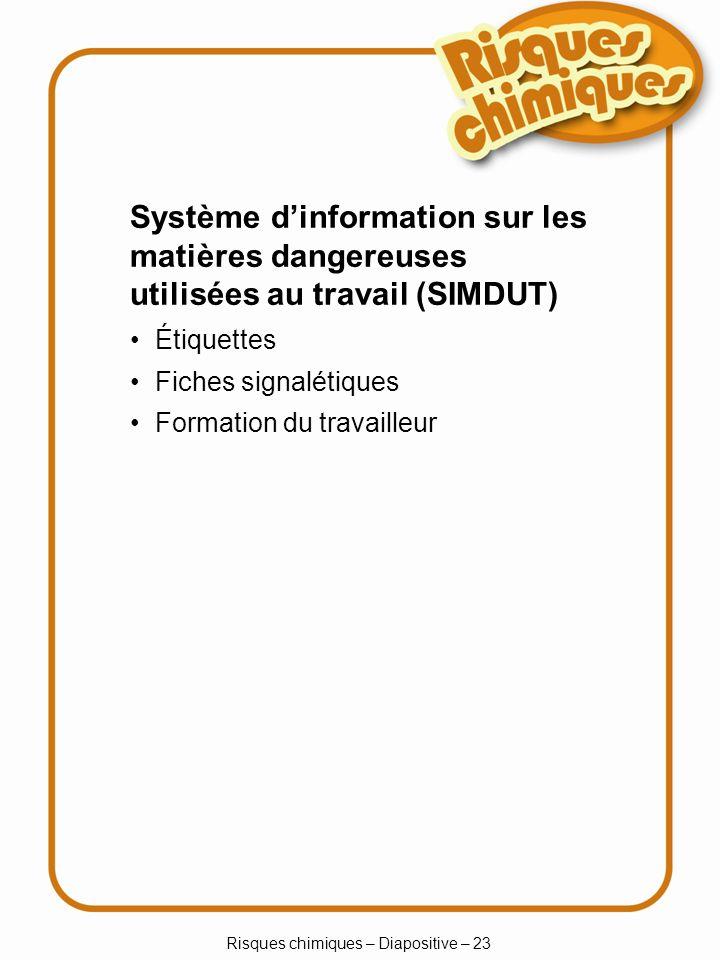 Risques chimiques – Diapositive – 23