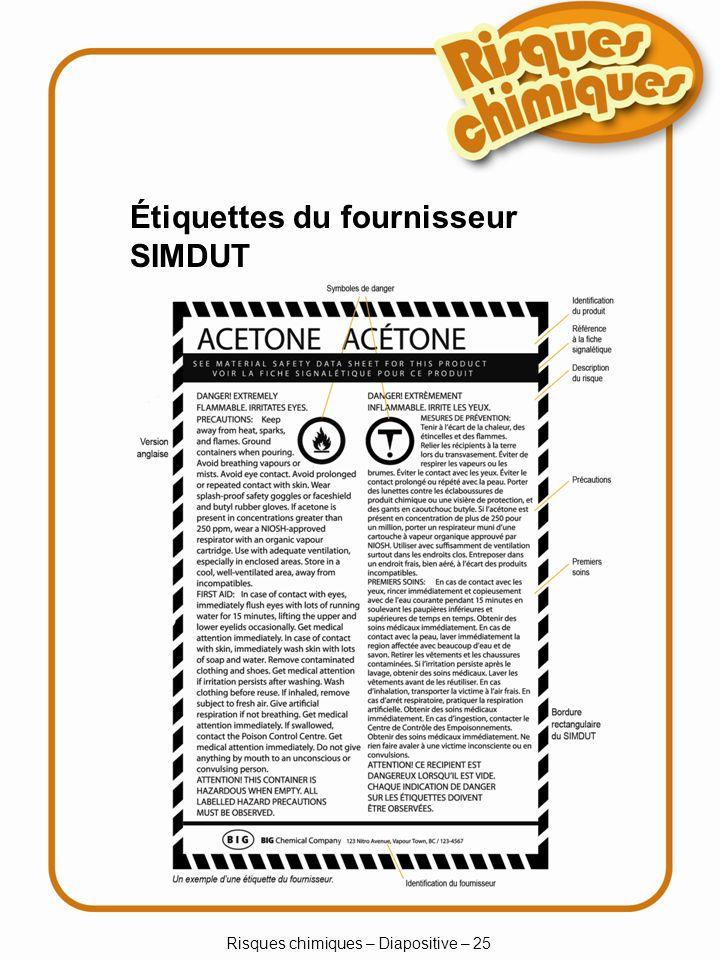 Risques chimiques – Diapositive – 25