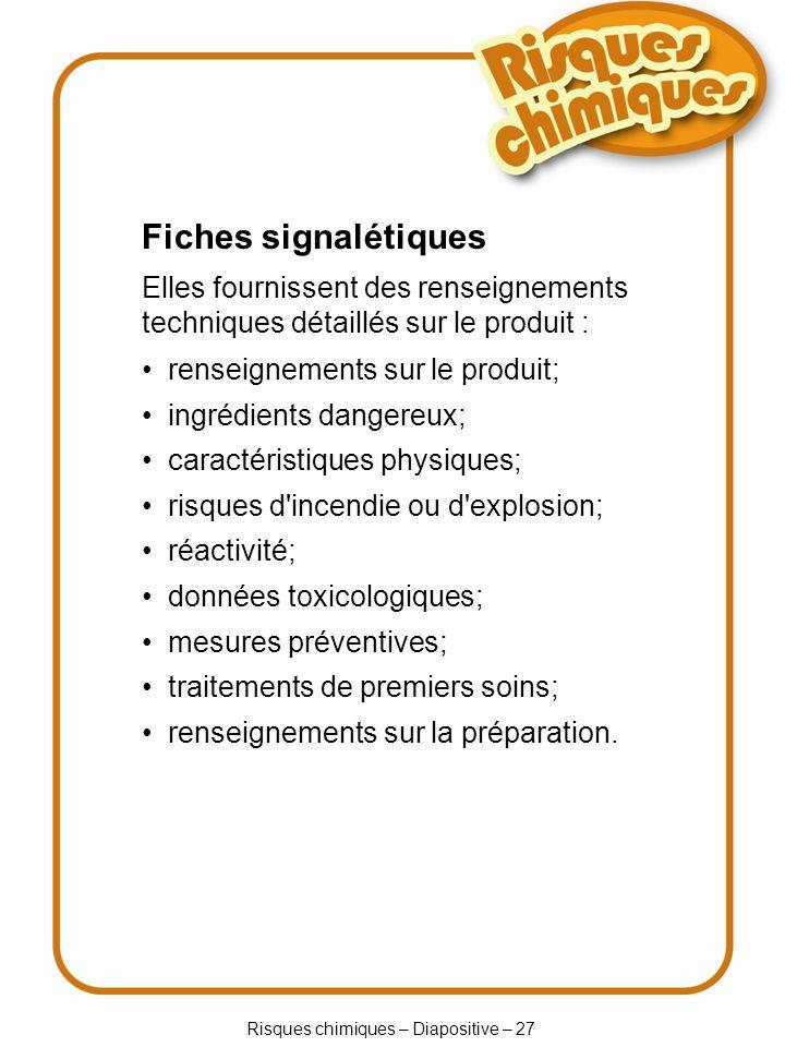 Risques chimiques – Diapositive – 27