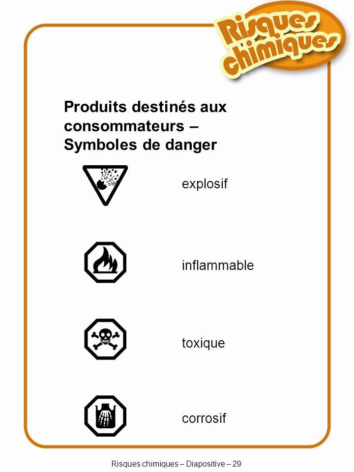 Risques chimiques – Diapositive – 29