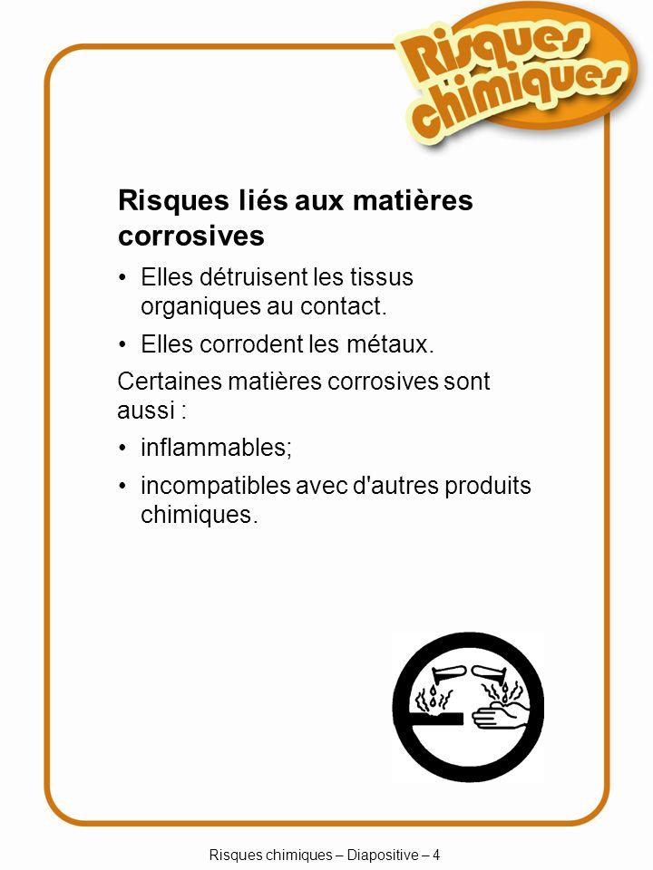 Risques chimiques – Diapositive – 4