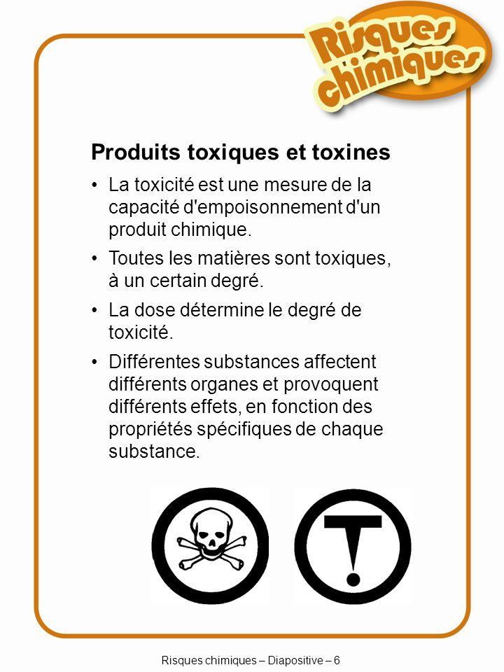 Risques chimiques – Diapositive – 6