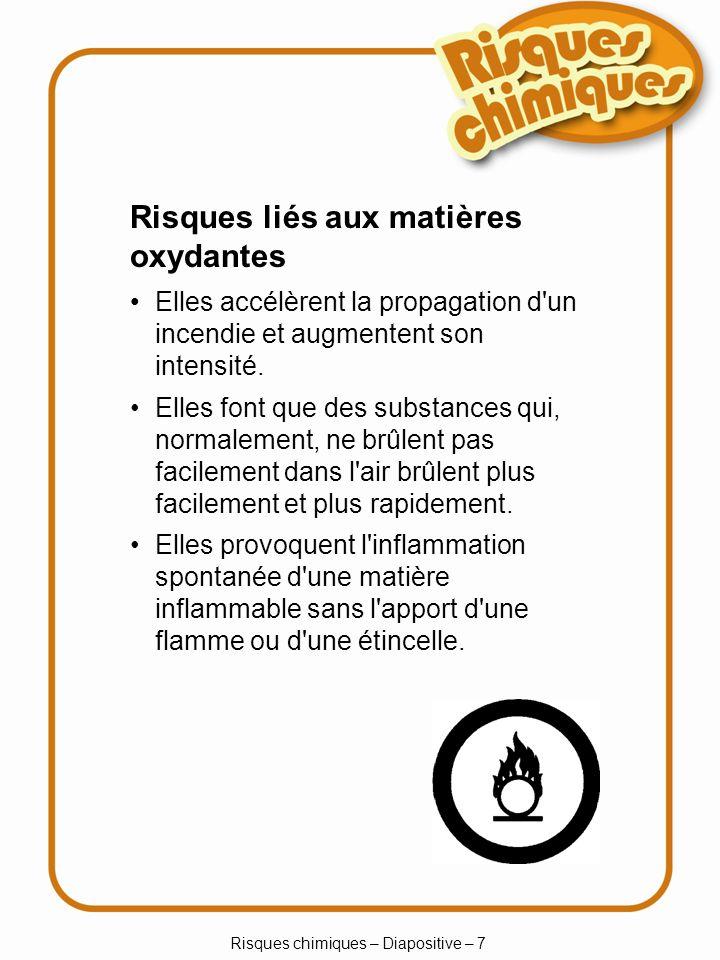 Risques chimiques – Diapositive – 7
