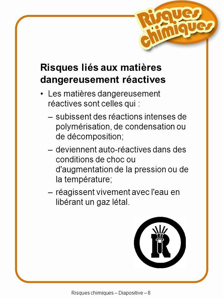 Risques chimiques – Diapositive – 8