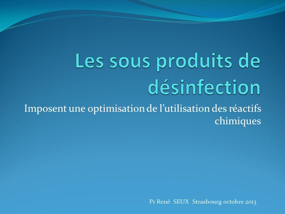Les sous produits de désinfection