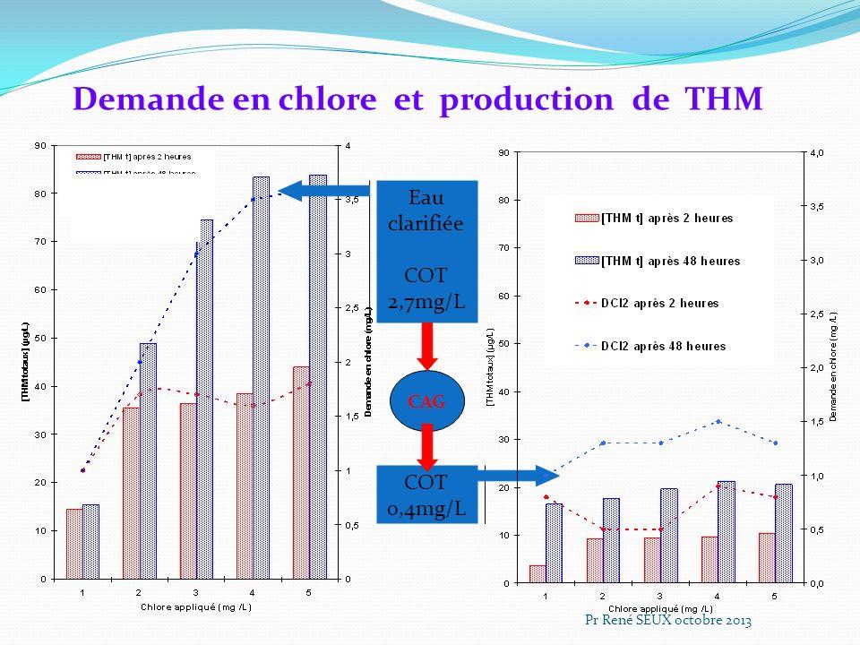 Demande en chlore et production de THM