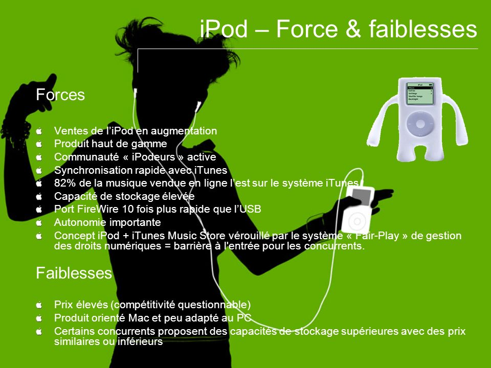 iPod – Force & faiblesses