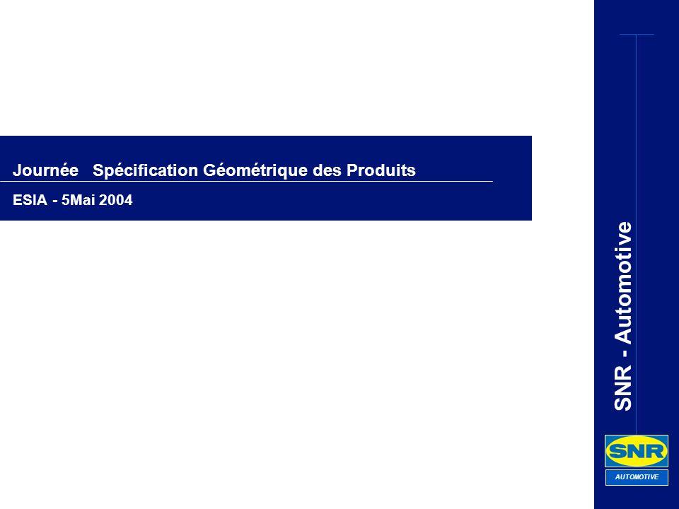 Journée Spécification Géométrique des Produits