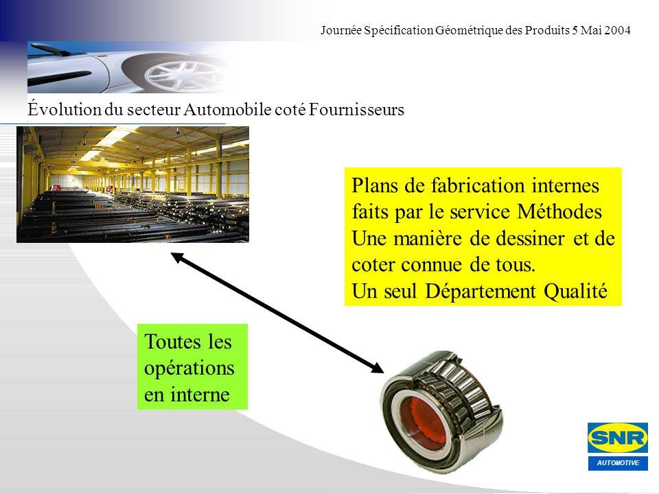 Plans de fabrication internes faits par le service Méthodes