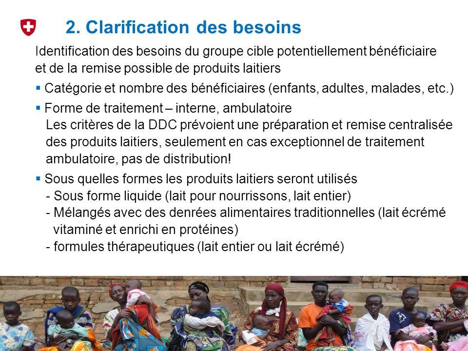2. Clarification des besoins