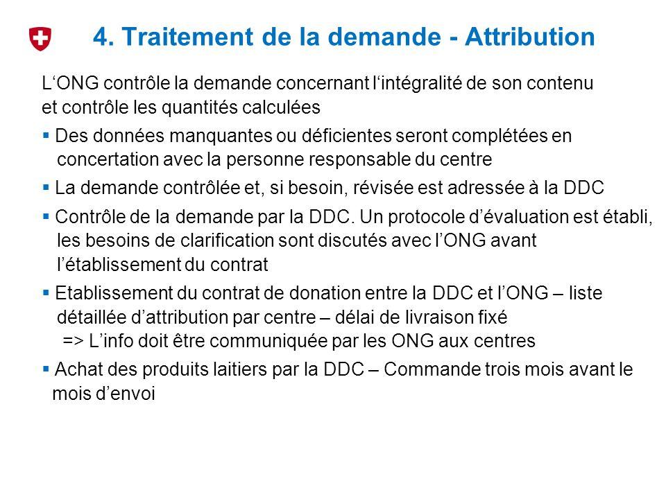 4. Traitement de la demande - Attribution