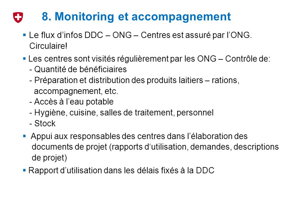 8. Monitoring et accompagnement