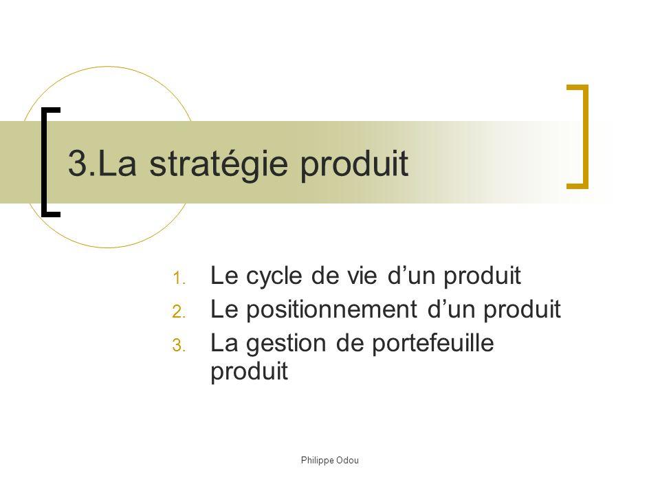 3.La stratégie produit Le cycle de vie d'un produit