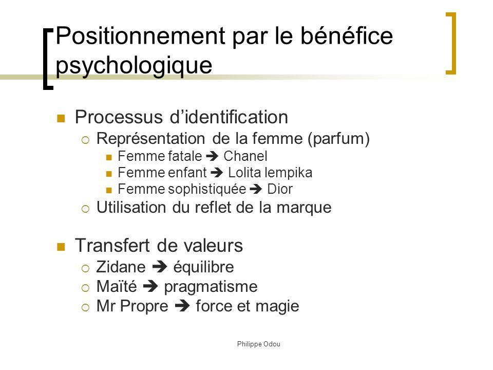 Positionnement par le bénéfice psychologique