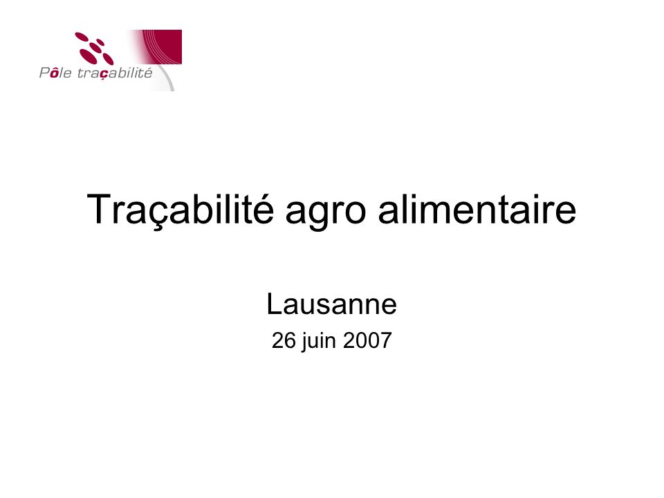Traçabilité agro alimentaire