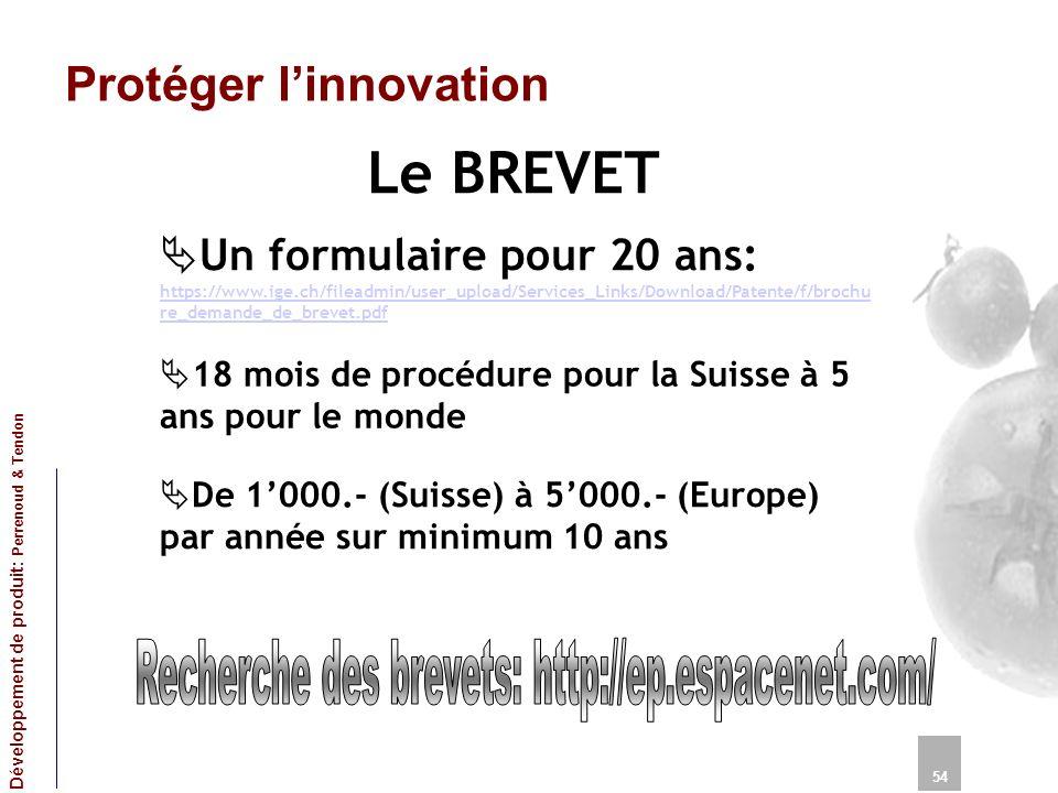 Recherche des brevets: http://ep.espacenet.com/