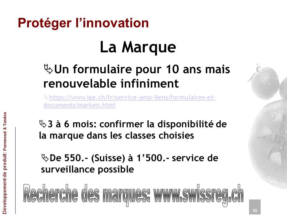 Recherche des marques: www.swissreg.ch
