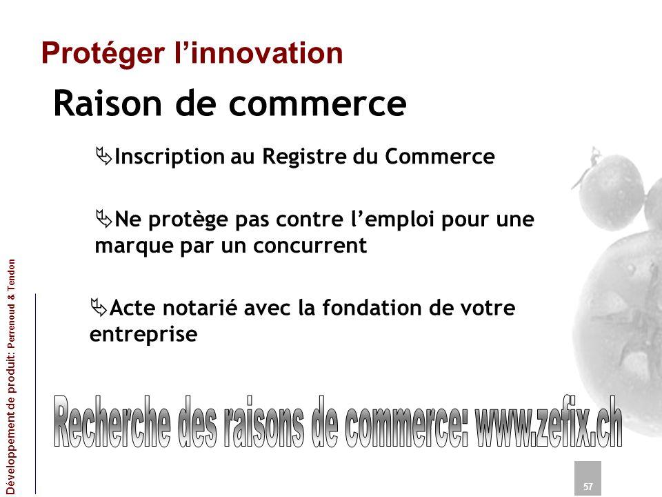 Recherche des raisons de commerce: www.zefix.ch