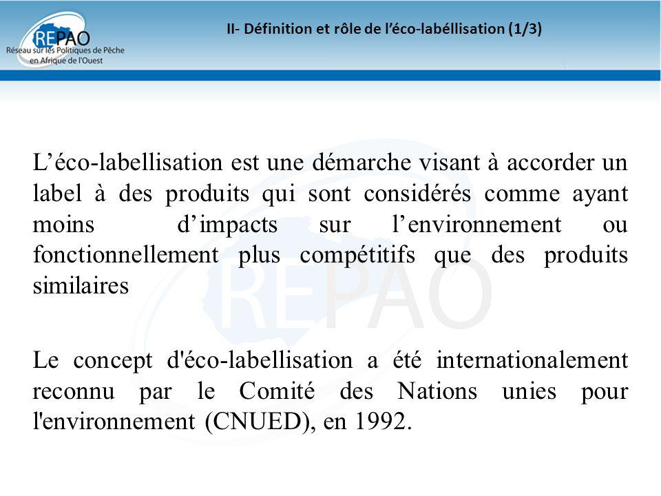 II- Définition et rôle de l'éco-labéllisation (1/3)