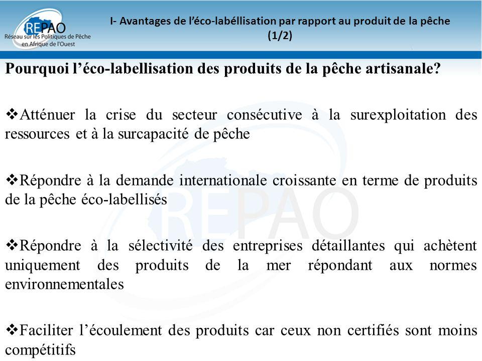Pourquoi l'éco-labellisation des produits de la pêche artisanale