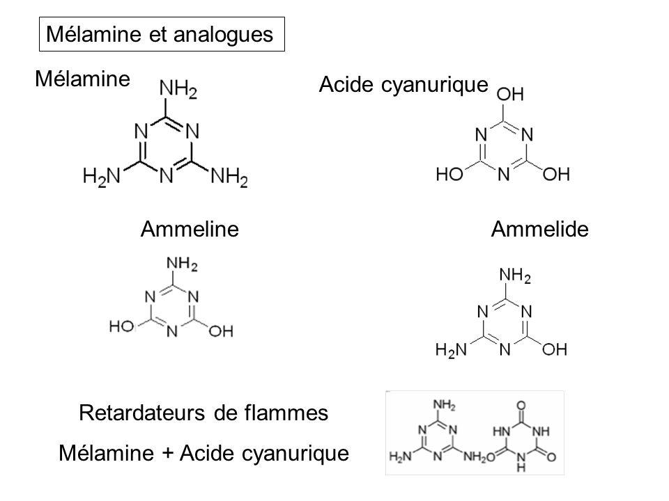 Retardateurs de flammes Mélamine + Acide cyanurique