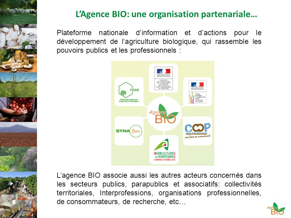 L'Agence BIO: une organisation partenariale…