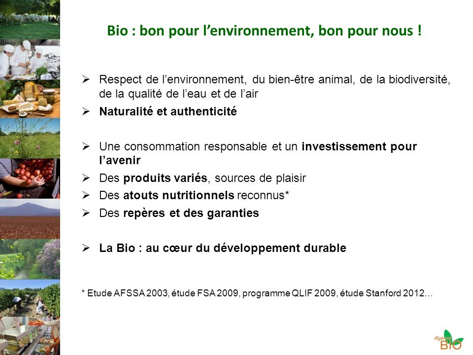 Bio : bon pour l'environnement, bon pour nous !