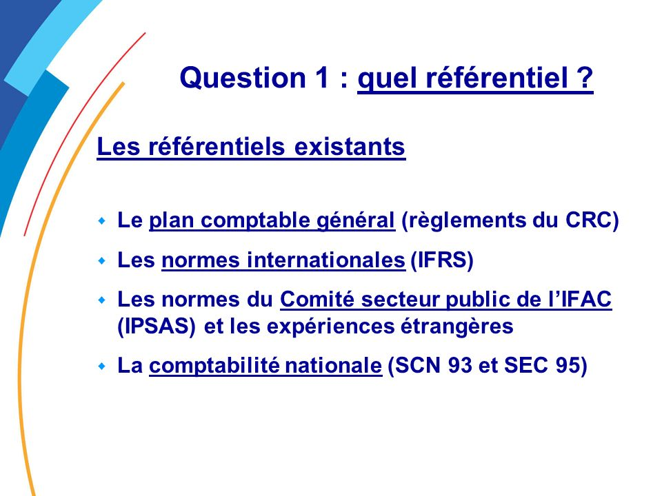Question 1 : quel référentiel