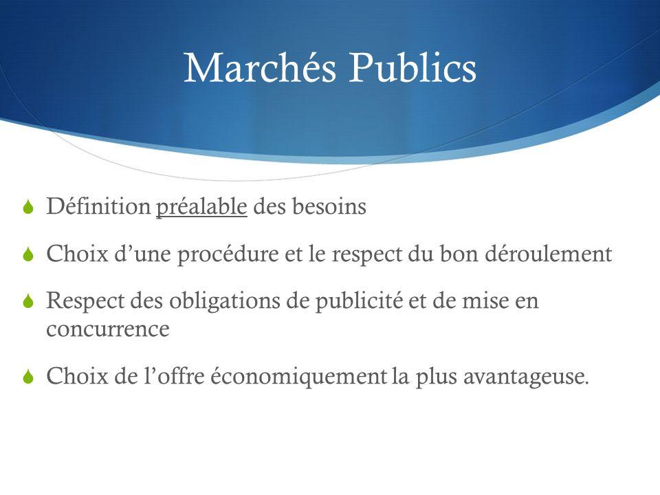 Marchés Publics Définition préalable des besoins