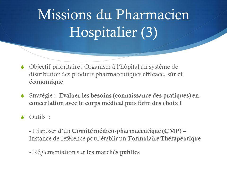 Missions du Pharmacien Hospitalier (3)