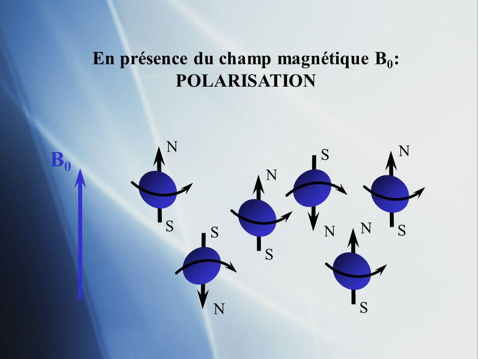 En présence du champ magnétique B0: