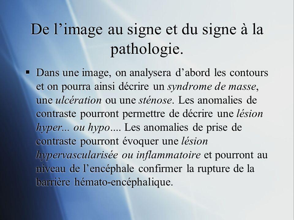 De l'image au signe et du signe à la pathologie.