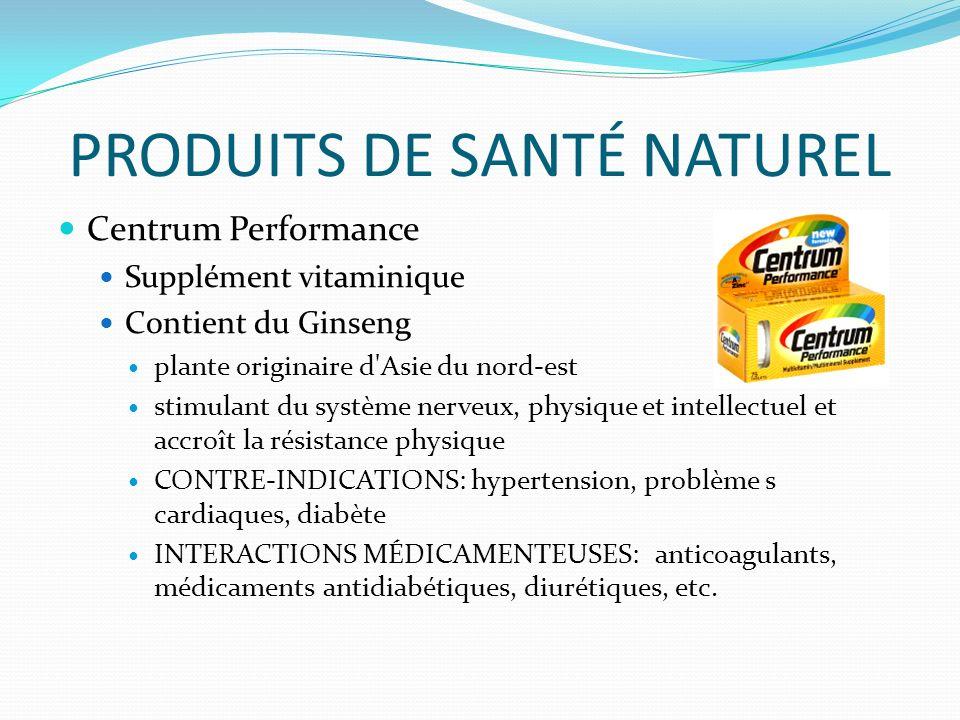 PRODUITS DE SANTÉ NATUREL
