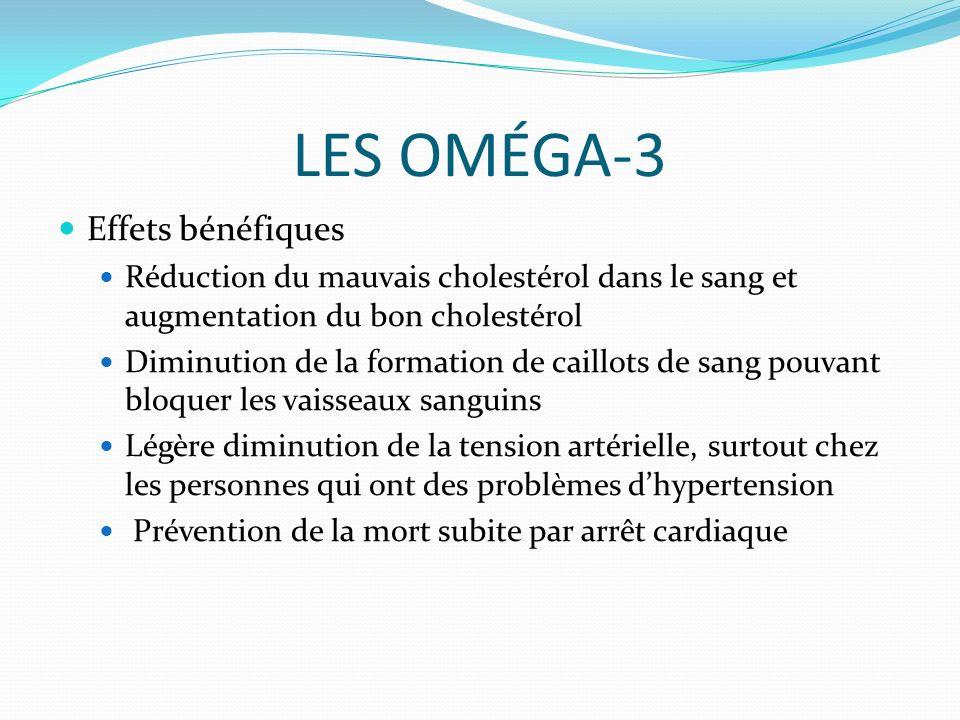 LES OMÉGA-3 Effets bénéfiques