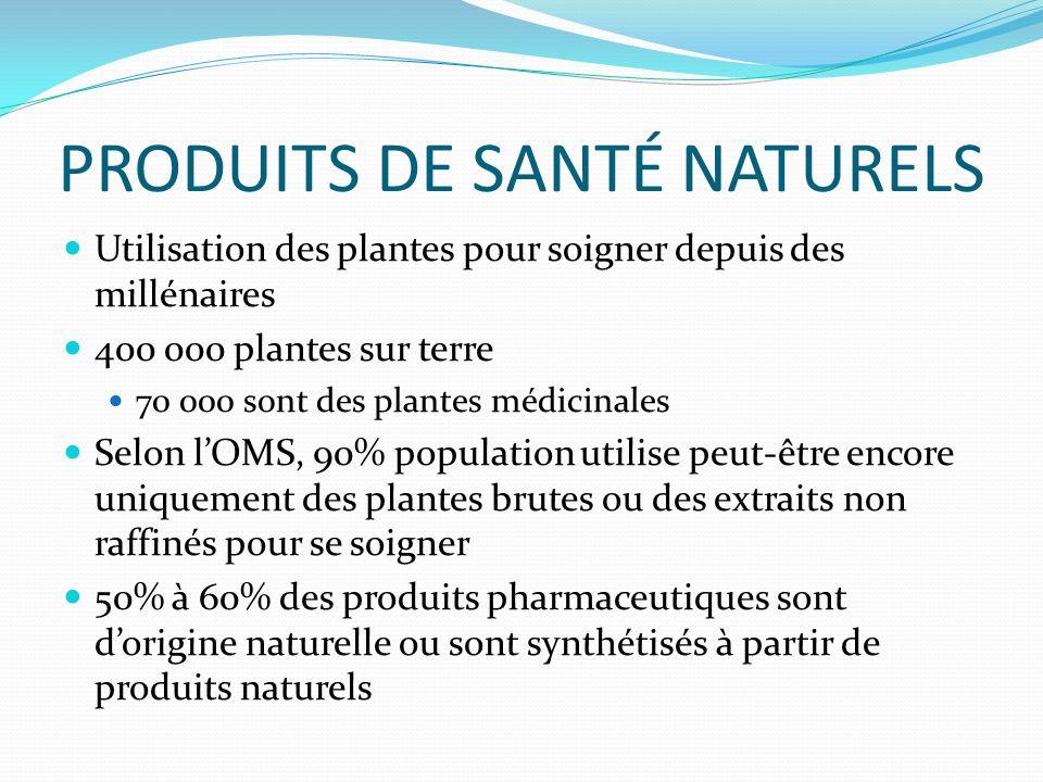 PRODUITS DE SANTÉ NATURELS