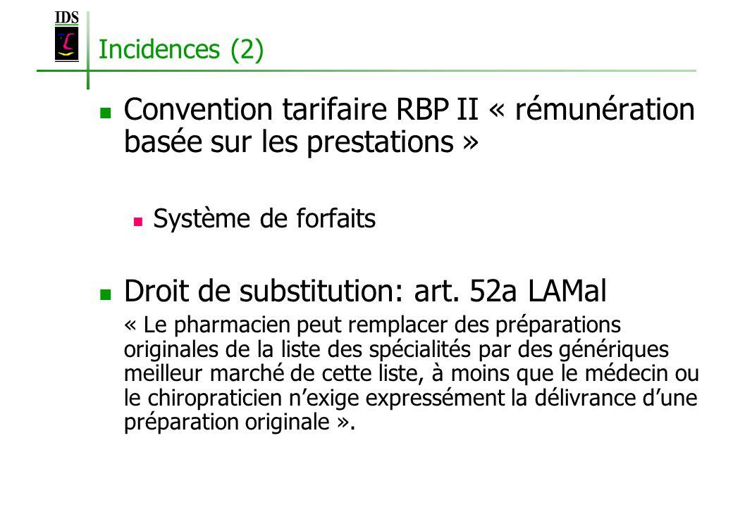 Convention tarifaire RBP II « rémunération basée sur les prestations »