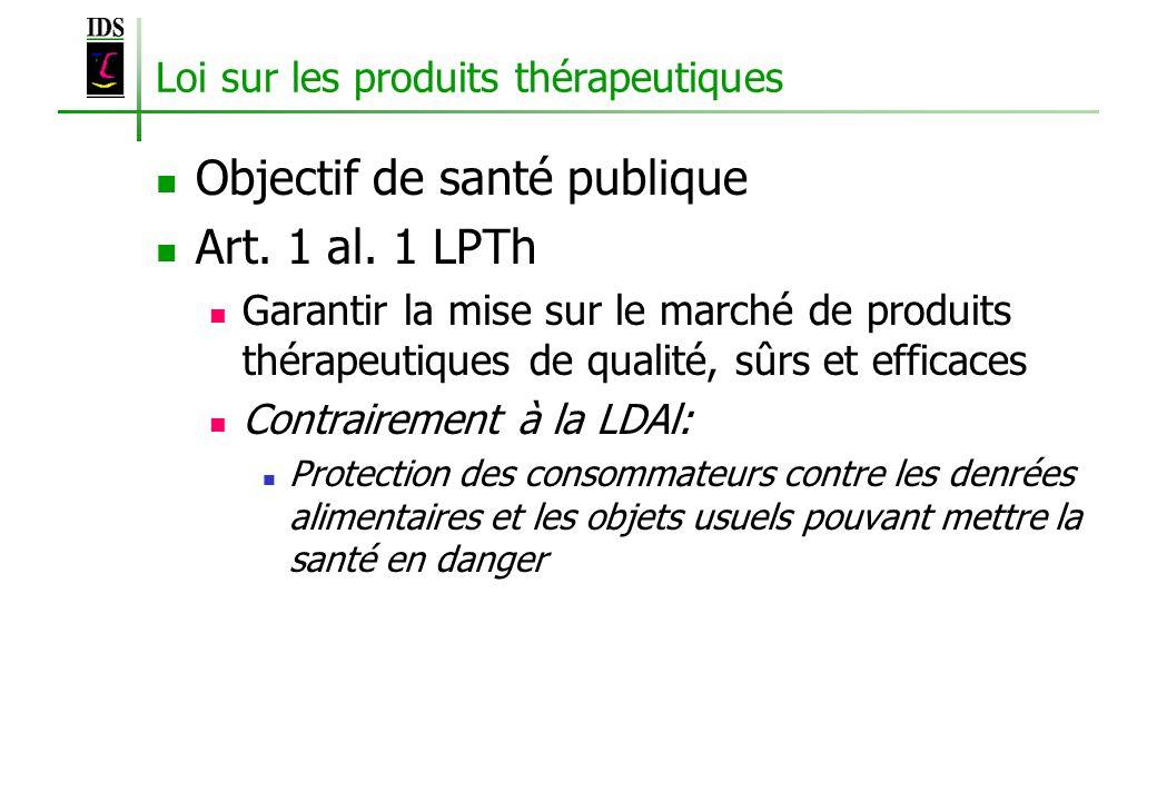 Loi sur les produits thérapeutiques