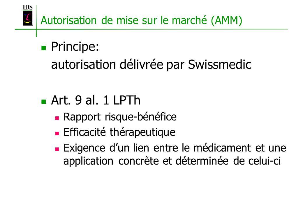 Autorisation de mise sur le marché (AMM)