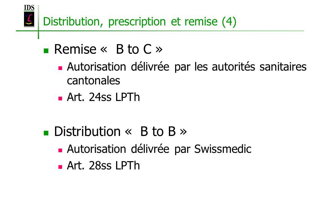 Distribution, prescription et remise (4)