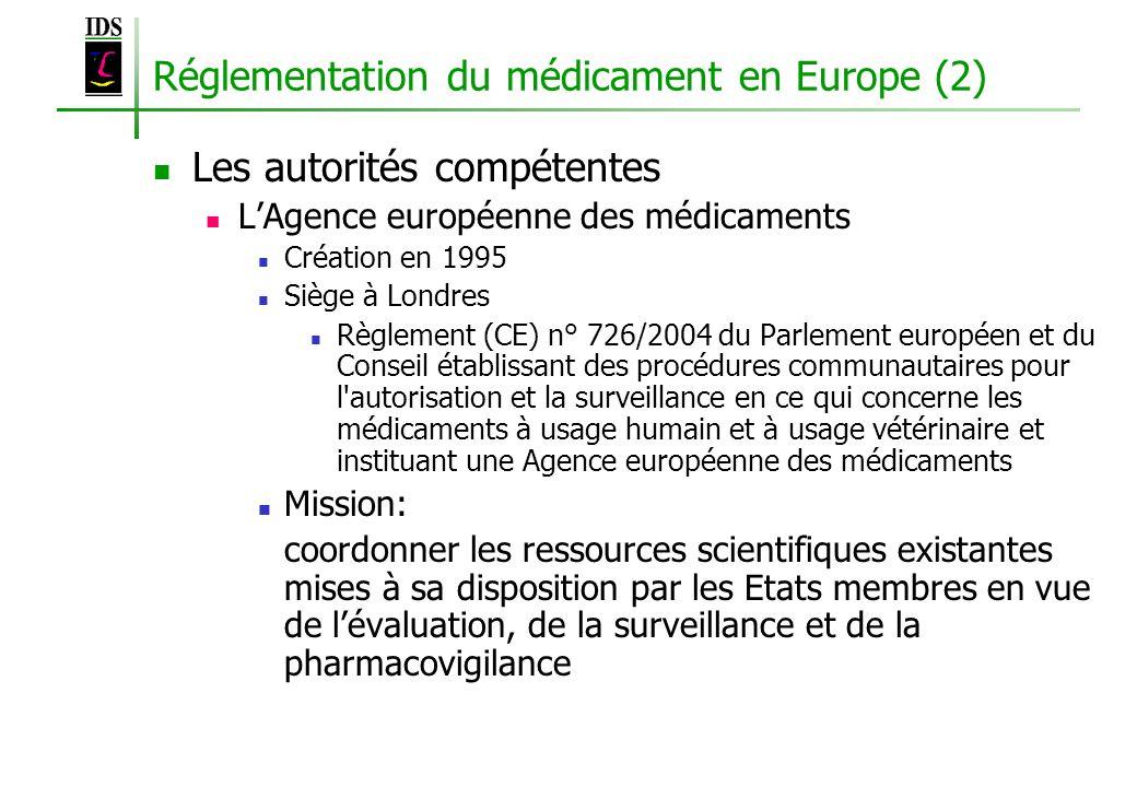 Réglementation du médicament en Europe (2)