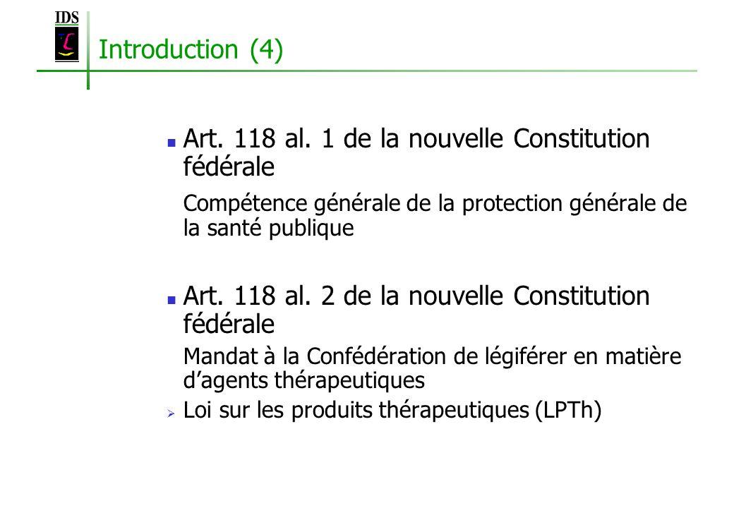Art. 118 al. 1 de la nouvelle Constitution fédérale