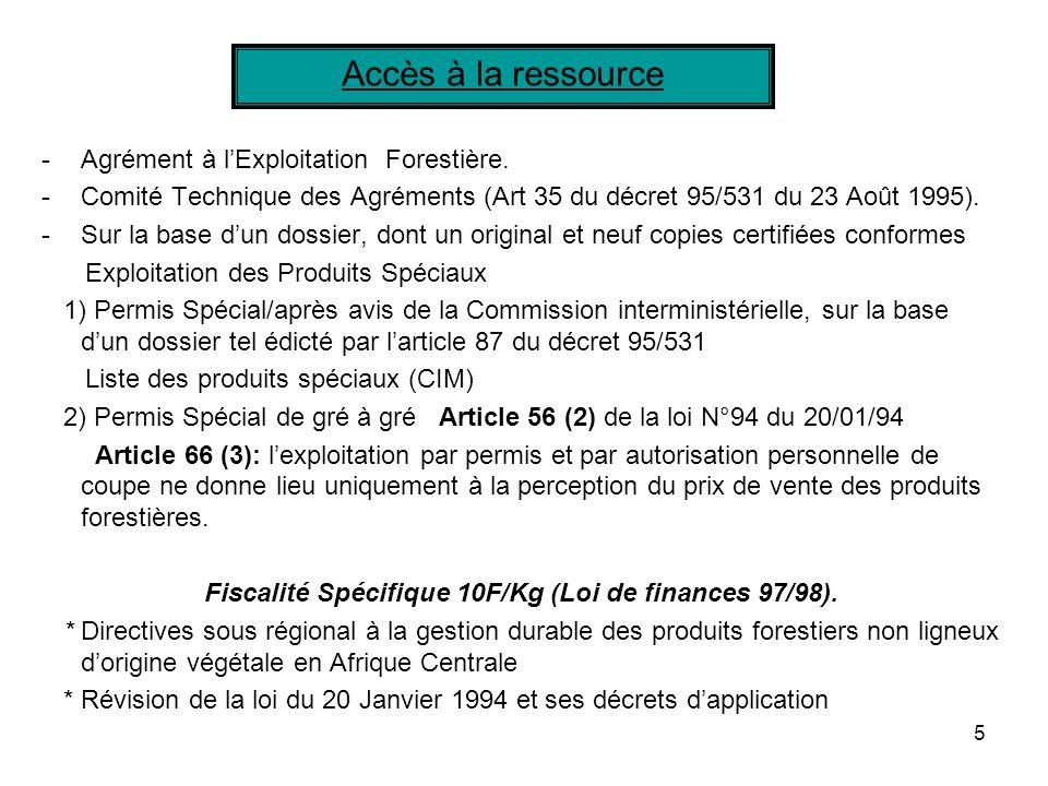 Fiscalité Spécifique 10F/Kg (Loi de finances 97/98).