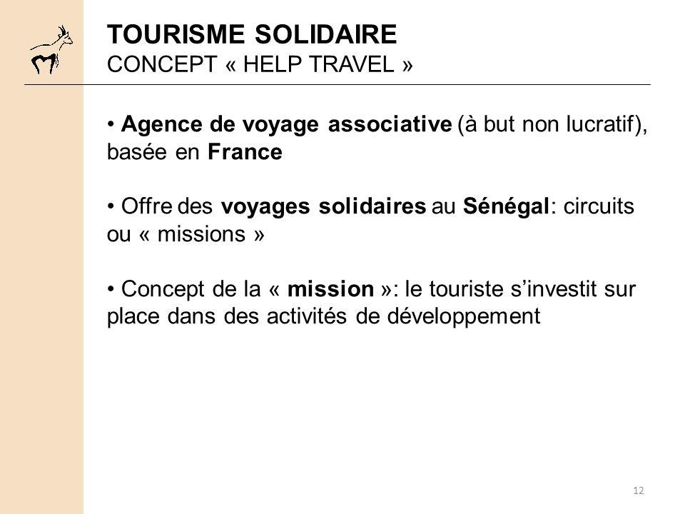 TOURISME SOLIDAIRE CONCEPT « HELP TRAVEL »