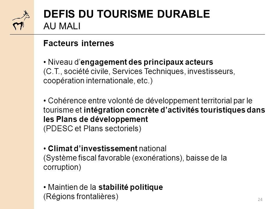 DEFIS DU TOURISME DURABLE
