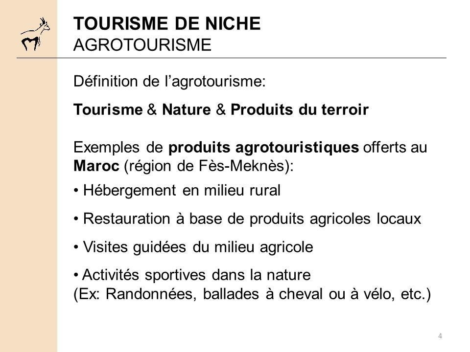 TOURISME DE NICHE AGROTOURISME Définition de l'agrotourisme: