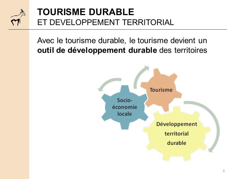 TOURISME DURABLE ET DEVELOPPEMENT TERRITORIAL