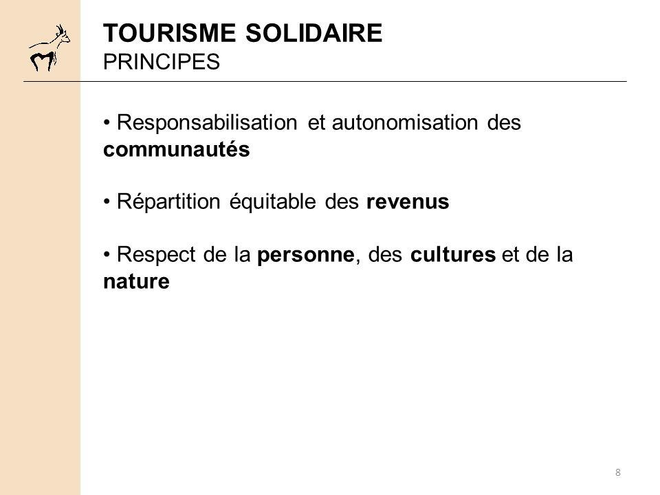 TOURISME SOLIDAIRE PRINCIPES