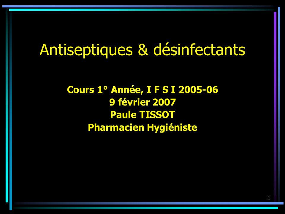 Antiseptiques & désinfectants