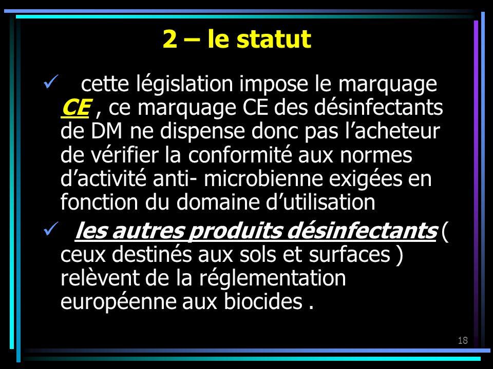 2 – le statut